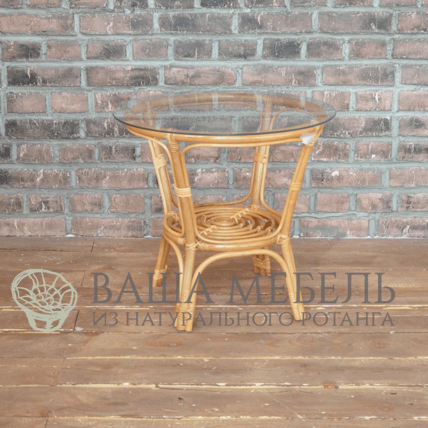 Стол кофейный БАГАМА из натурального ротанга