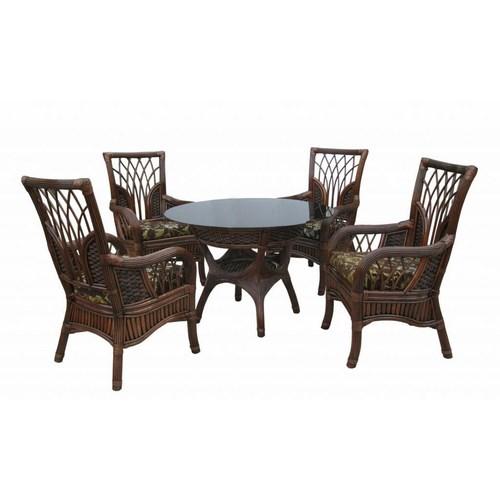 Комплект Касабланка квартет с обеденным столом из натурального ротанга