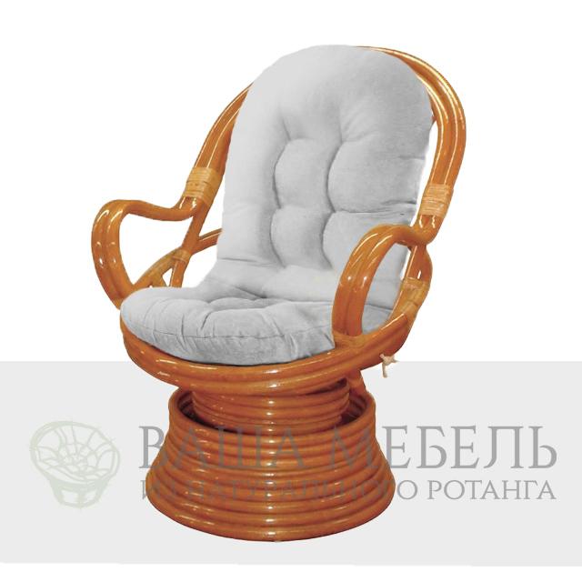 Кресло Royal Rocker (Ройал Рокер) вращающееся из натурального ротанга