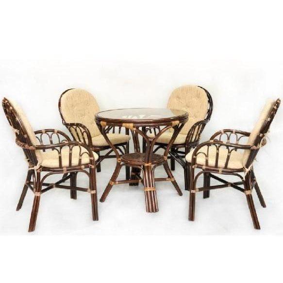 Комплект Пати квартет с обеденным столом из натурального ротанга