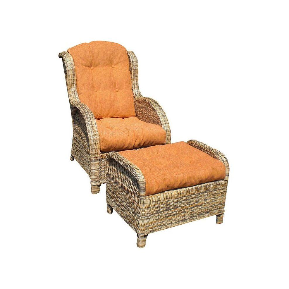 Кресло Дэдра из натурального ротанга