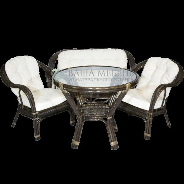 Комплект Макита семейный с обеденным столом из натурального ротанга
