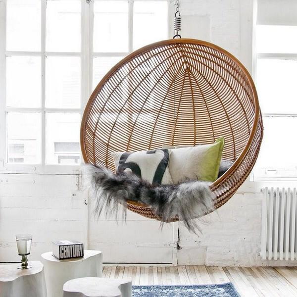 Мебель из ротанга в интерьере современных квартир