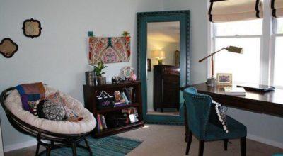 Мебель из ротанга в интерьере спальной комнаты