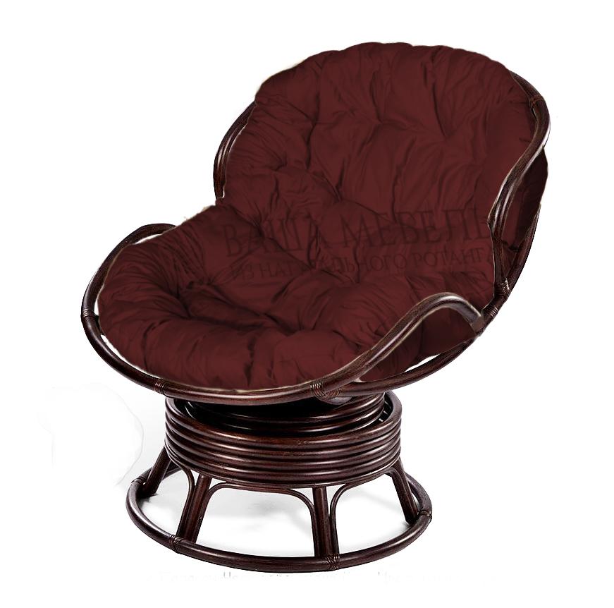 Кресло Папасан Челси вращающееся из натурального ротанга