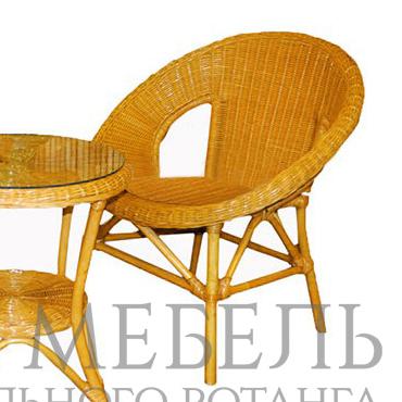 Кресло Бони из натурального ротанга