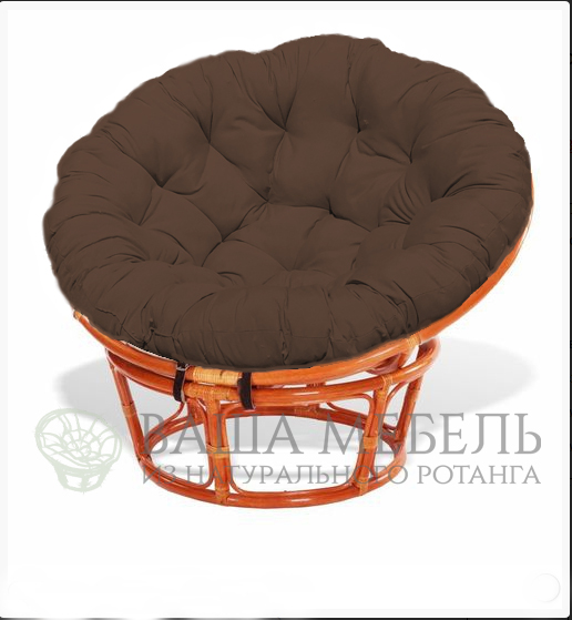 Кресло Папасан MAX из натурального ротанга