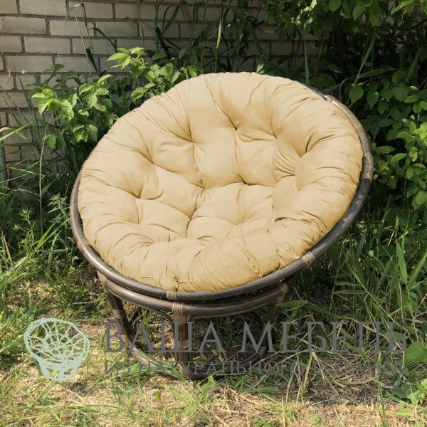 Кресло Папасан венге из натурального ротанга (уценка)