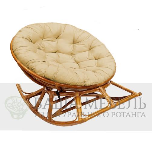 Кресло-качалка Папасан из натурального ротанга