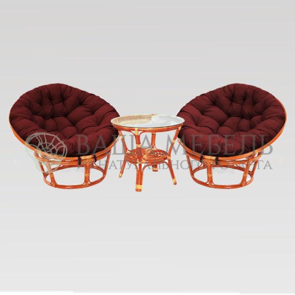 Набор: 2 кресла Папасан MAX и стол Багама
