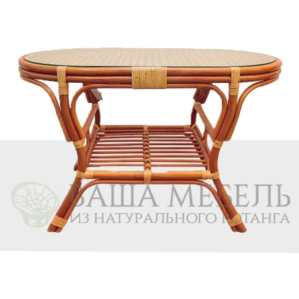 Стол Пеланги овальный из натурального ротанга.