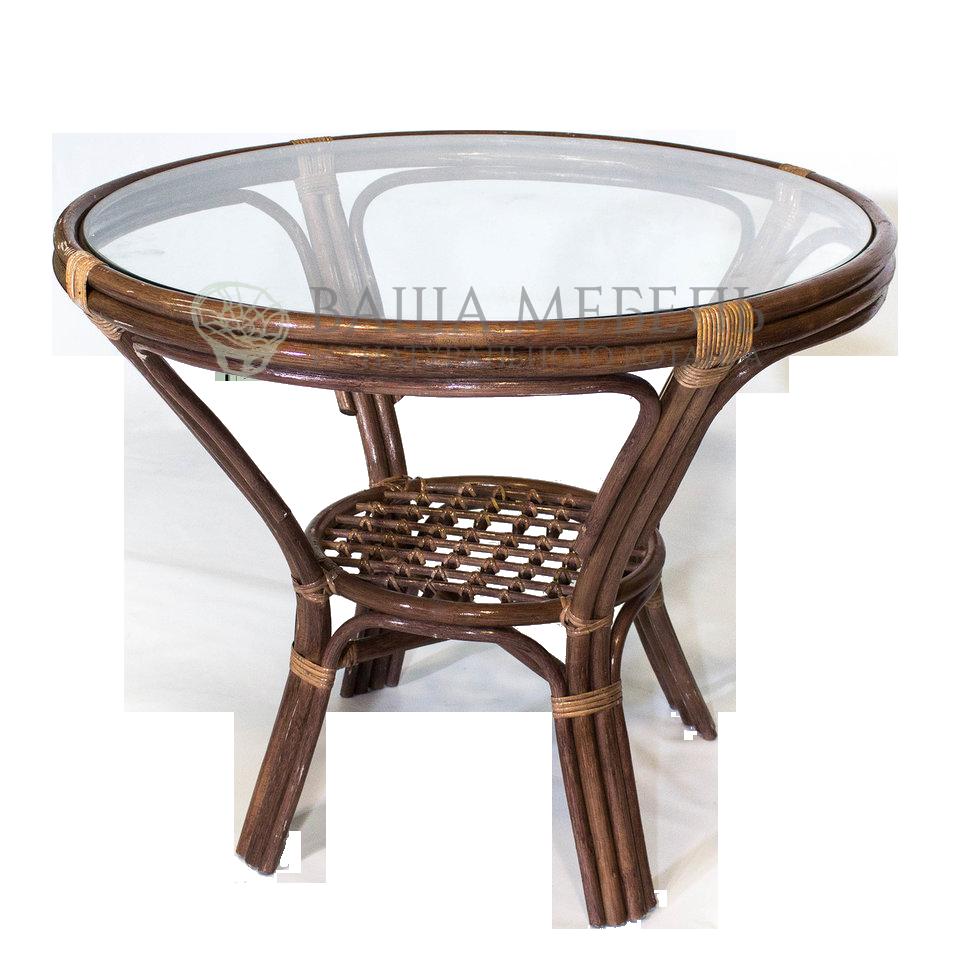 Стол обеденный из натурального ротанга (уценка)