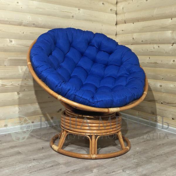 Кресло Папасан вращающееся из натурального ротанга