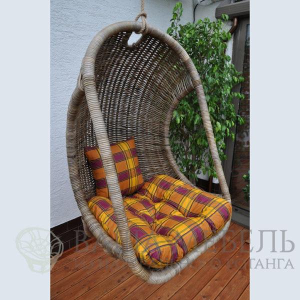 Кресло Фит подвесное из натурального ротанга.