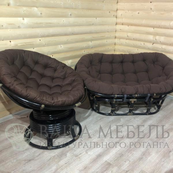 Набор : диван Мамасан и кресло Папасан вращающееся