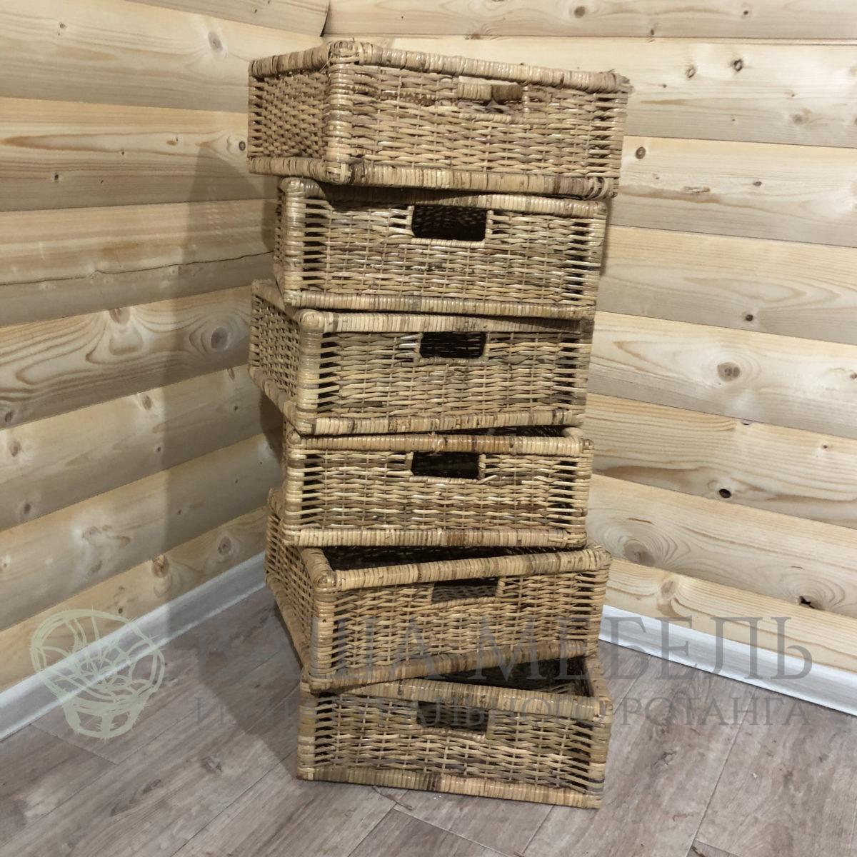 Ящик плетеный из натурального ротанга