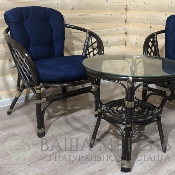 Набор стол и кресло Багама из натурального ротанга